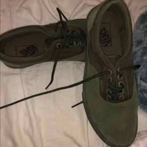 Army green vans (perfect condition)
